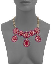 Catherine Stein | Red Beaded Gem Bib Necklace | Lyst