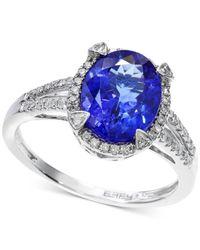 Macy's | Tanzanite (2-5/8 Ct. T.w.) And Diamond (1/4 Ct. T.w.) Ring In 14k White Gold | Lyst
