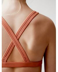 Free People | Pink South Beach Bra | Lyst