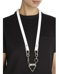 Moxham | Metallic Silver Plated Arrow Necklace | Lyst
