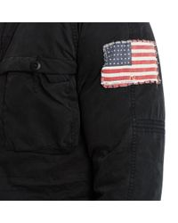 Denim & Supply Ralph Lauren - Black Cotton-blend Down Parka for Men - Lyst
