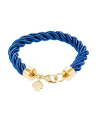 kate spade new york - Blue Learn The Ropes Thin Bracelet - Lyst