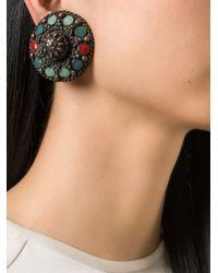 Jean Paul Gaultier - Metallic Enamel Earrings - Lyst