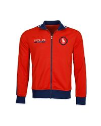 Ralph Lauren - Red Cotton-blend Track Jacket for Men - Lyst