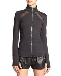 Heroine Sport | Black Brushed Tech Jersey Studio Jacket | Lyst