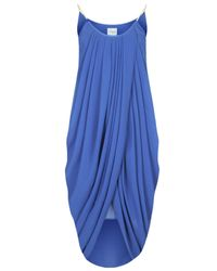 TOPSHOP - Womens Anja Drape Dress with Chain By Jovonna Blue - Lyst