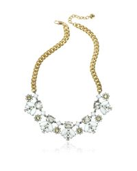Juicy Couture - Metallic Crystal And Golden Metal Necklace - Lyst
