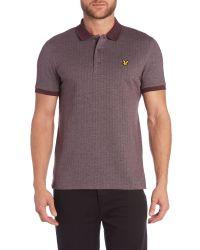 Lyle & Scott - Purple Herringbone Polo Shirt for Men - Lyst