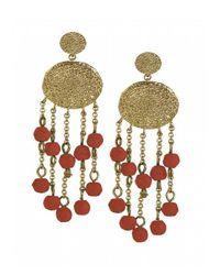 Karen Kane | Orange Sandy Beach Beaded Chandelier Earrings | Lyst
