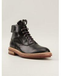 Kris Van Assche - Black Fringed Tongue Ankle Boots for Men - Lyst
