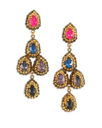 Erickson Beamon | Multicolor Velvet Underground Pear Crystal Chandelier Earrings | Lyst