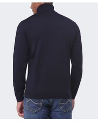 BOSS - Blue Balderbert Roll Neck Jumper for Men - Lyst