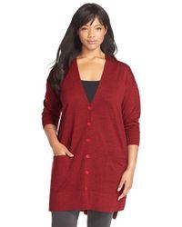 Sejour | Purple 'core' Wool Blend V-neck Cardigan | Lyst