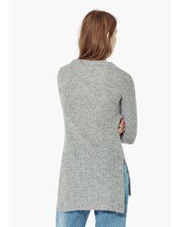 Mango - Gray Flecked Sweater - Lyst