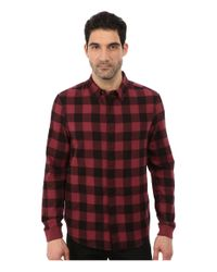 Alternative Apparel | Red Expedition Flannel Long Sleeve for Men | Lyst