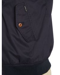 Ben Sherman - Blue Hooded Showerproof Harrington Jacket for Men - Lyst