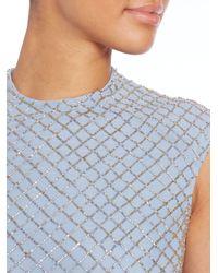 Needle & Thread | Blue Circle Mesh Dress | Lyst