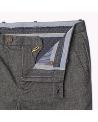 Tommy Hilfiger | Gray Cotton Blend Slim Fit Chino for Men | Lyst