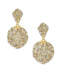 Alexis Bittar | Metallic Miss Havisham Jagged Crystal Marquis Cluster Clip-on Drop Earrings | Lyst