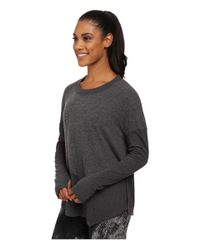 Alo Yoga | Gray Lean To Long Sleeve Top | Lyst