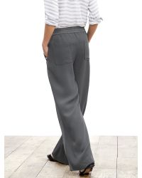Banana Republic | Gray Piped Wide-leg Soft Pant | Lyst