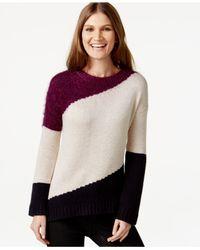 DKNY | Purple Colorblocked Sweater | Lyst