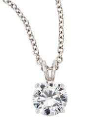 Fantasia by Deserio | Metallic Cz Solitaire Pendant Necklace | Lyst