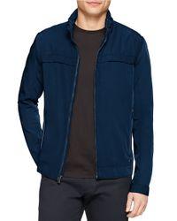 Calvin Klein | Blue Seasonal Zip-front Jacket for Men | Lyst