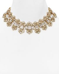 """kate spade new york - Metallic Glass Arches Necklace, 14"""" - Lyst"""