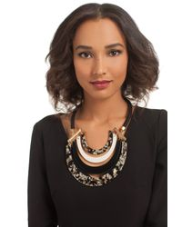 Trina Turk | Black Resin Drama Necklace | Lyst