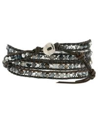 Chan Luu - Metallic 32' Grey Banded Agate Mix Crystal Wrap Bracelet - Lyst