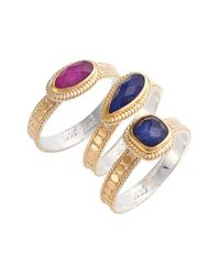 Anna Beck | Blue Precious Stone Stackable Rings | Lyst