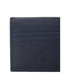 Tod's - Blue Stitched Grained Leather Classic Wallet for Men - Lyst