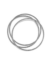David Yurman | Metallic Cable Classics Three Bangle Bracelet Set | Lyst