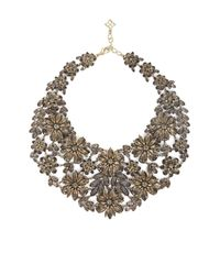 BCBGMAXAZRIA | Metallic Floral Statement Necklace | Lyst