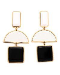 Lizzie Fortunato - White Geometric Drop Earrings - Lyst
