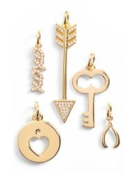 BaubleBar - Metallic 'key To My Heart' Charms - Lyst