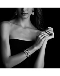 David Yurman - Metallic Cable Wrap Ring With Diamonds In Gold - Lyst