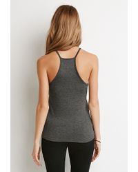 Forever 21 - Gray Bisous Graphic Cami - Lyst