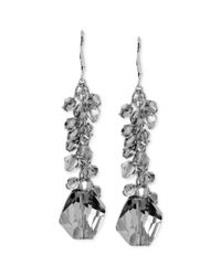 Kenneth Cole - Metallic Silvertone Shaky Bead and Faceted Drop Earrings - Lyst