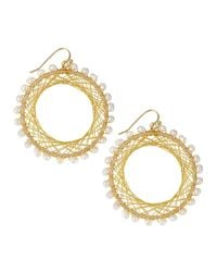 Nakamol - Metallic Pearly Beaded Spiral-wire Earrings - Lyst
