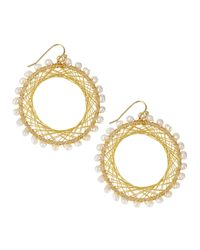 Nakamol | Metallic Pearly Beaded Spiral-wire Earrings | Lyst