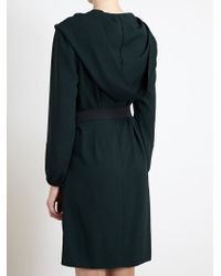 Lanvin - Green Cowl Neck Dress - Lyst