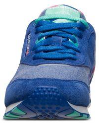 Reebok - Blue Women'S Classic Nylon Slim Jacquard Casual Sneakers From Finish Line - Lyst