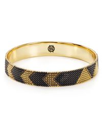 House of Harlow 1960 - Black 1960 Thin Arrow Bangle - Lyst