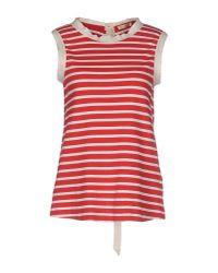 Erika Cavallini Semi Couture - Red T-shirt - Lyst