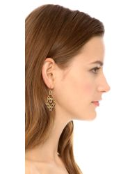 Alexis Bittar | Yellow Crystal Studded Articulating Scalloped Tear Earrings Gold Multi | Lyst