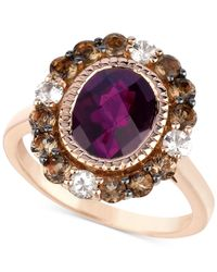 Le Vian | Red Chocolate Quartz And White Sapphire (3-3/4 Ct. T.w.) Ring In 14k Rose Gold | Lyst