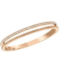 Swarovski | Pink Click Bangle | Lyst