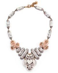 Lulu Frost | Metallic Ingrid Floral Crystal Bib Necklace | Lyst